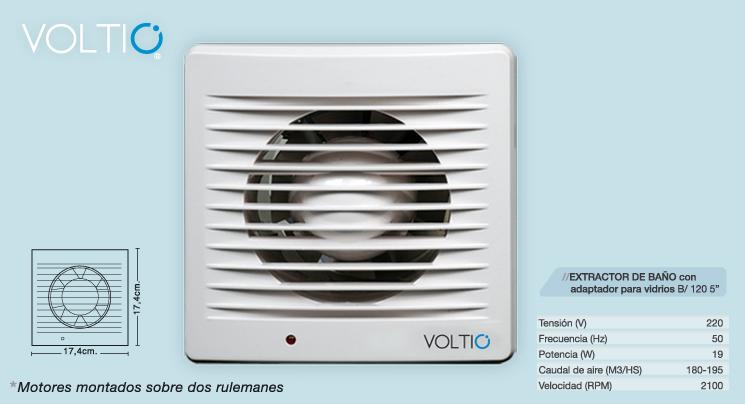 Extractor De Baño Voltio:Extractor De Aire Para Baño 5 Voltio Blanco Pared O Vidrio (Otros) a